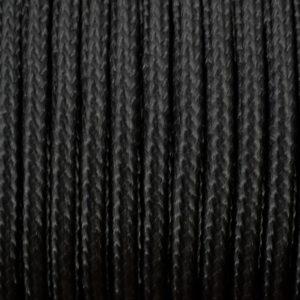 Polyester gevlochten zwart