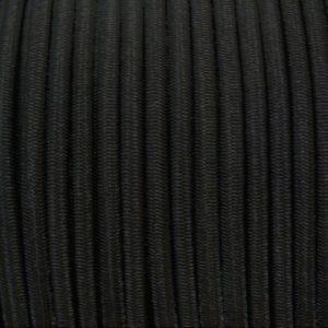 elastiek gevlochten polyethyleen mantel zwart trapeze elastiek aanhanger elastiek