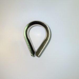 kous rvs voor het maken van een oog in touw of rvs kabel