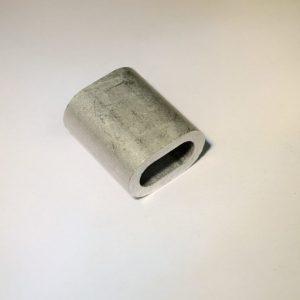 klem van aluminium om een lus in verzinkte kabel te persen