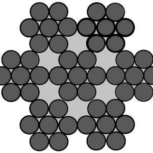 Staalkabel RVS 7x7