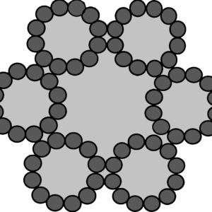 staalkabel 6x12+7 verzinkt