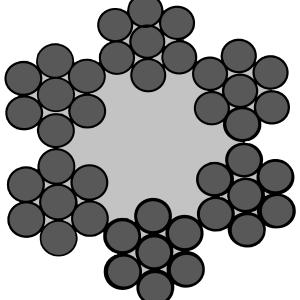 staalkabel 6x7+1 verzinkt